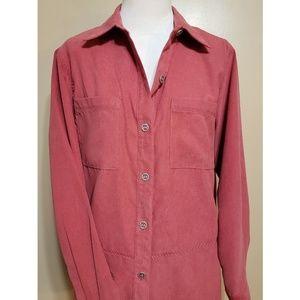 Alfred Dunner Tops - Alfred Dunner Rose Button Down Shirt